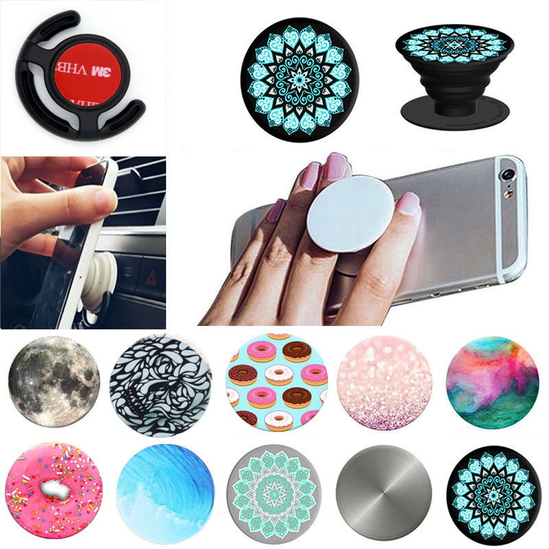 Pop Sockets Stand Grip Phones Tablet Case Car Mount Earphone Holder