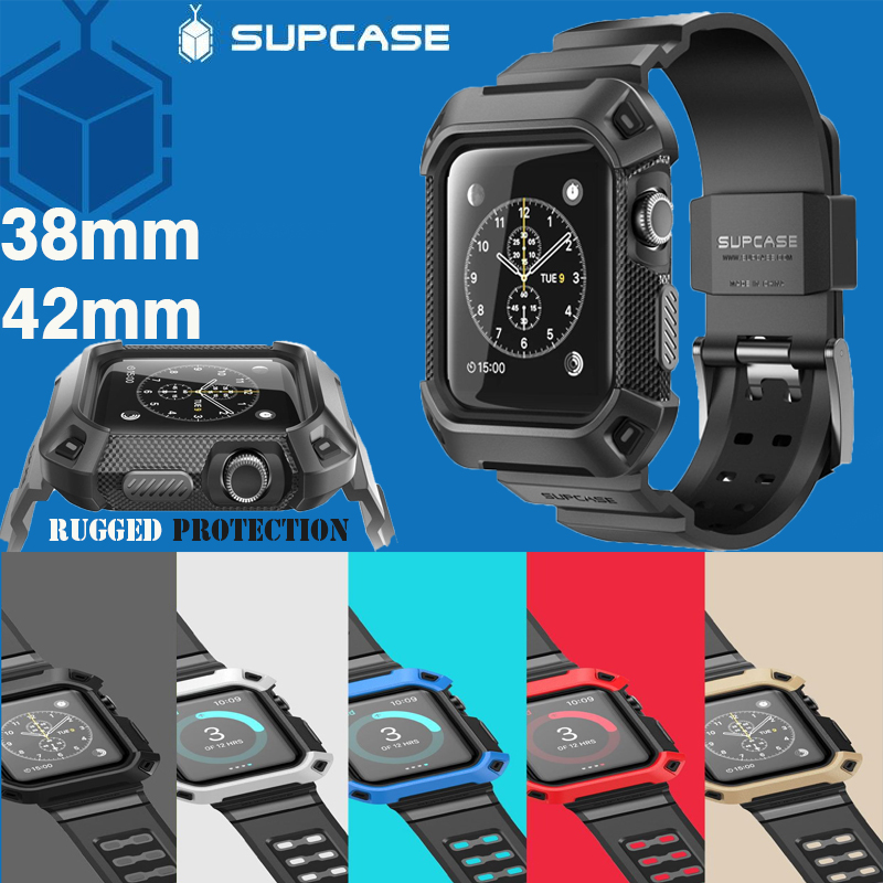 100% Genuine Apple Watch Cover SUPCASE HEAVY DUTY UB PRO Rugged Case with Wristband