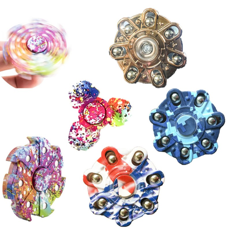 ECUBEE Colorful EDC Hand Spinner Gadget Bearing Fidget Tri-Spinner Finger Focus Reduce Stress Gadget